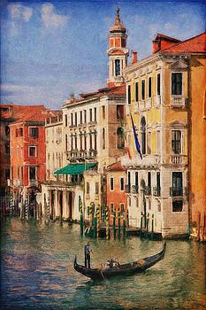Gondolas in Venice by Terri Roncone