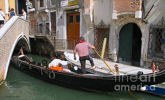 Gondolier by the bridge- Venice by Italian Art