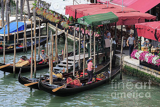 Gondoliers, Venice, Italy by Louise Heusinkveld