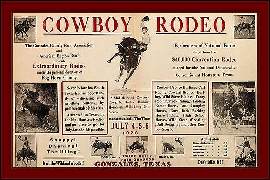 Peter Ogden - Gonzales Texas County Fair Cowboy Rodeo Bronco Busting 1928 Texas Cowboy Culture