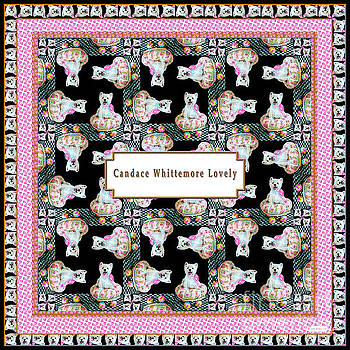 Candace Lovely - Good and Plenty Westie Pattern with Logo