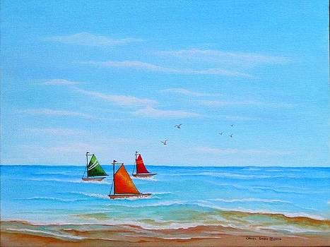 Good Day for Sailing by Carol Sabo