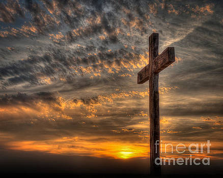Good Friday Cross at Sunset by Kerri Garrison