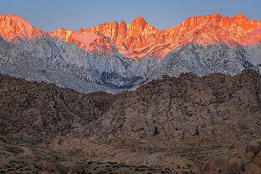 Good Morning Mount Whitney by John Hight
