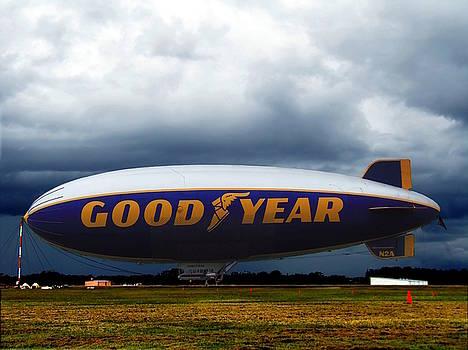 Goodyear Blimp 003  by Chris Mercer