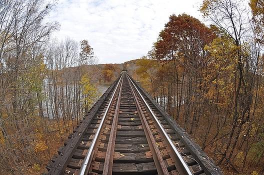 Goose Hollow Train Bridge by Jon Benson