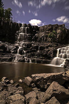 Gooseberry Falls Long Exposure Vertical by Lonnie Paulson
