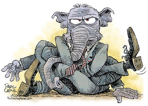 GOP Tied Up in a Knot by Daryl Cagle