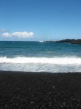 Gorgeous Black Sand Beach Maui by Halle Treanor