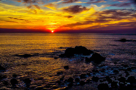 Gorgeous Coastal Sunset by Garry Gay