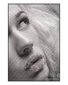 Gorgeous girl with sugar on her lips by Michael Edwards
