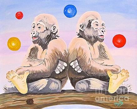 Gorilla Twins by Phyllis Kaltenbach