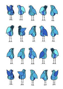 Gossip Birds Blue by Lisa Frances Judd