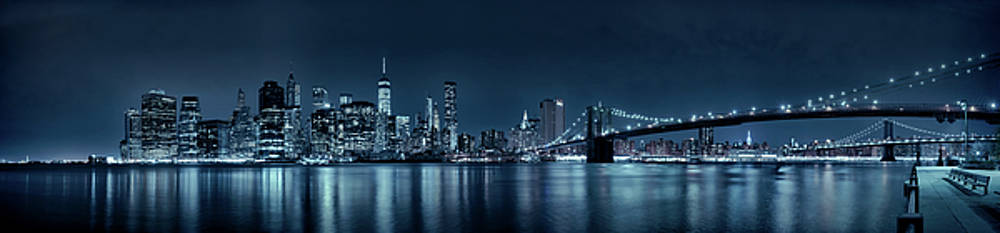 Gotham City Skyline by Sebastien Coursol