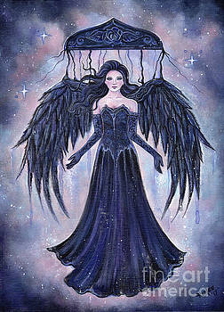 Gothic Angel darkness to the light by Renee Lavoie
