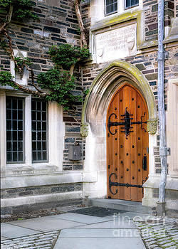 Gothic Door Princeton University by Jerry Fornarotto