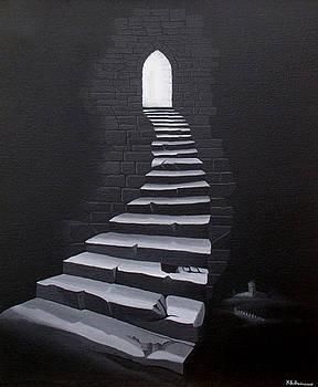 Gothic steps by Kenneth-Edward Swinscoe