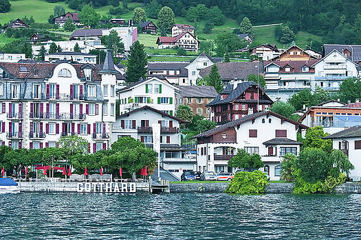 Gotthardt on Lake Lucerne by Gene Norris