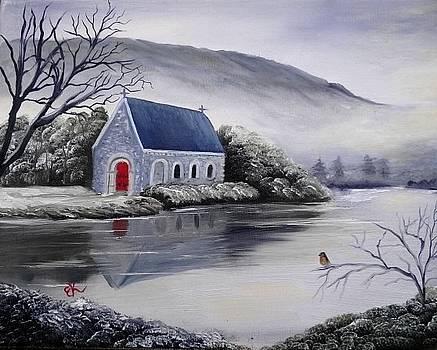 Gougane Barra Church by Fineartist Ellen