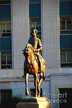 Susanne Van Hulst - Gov Wade Hampton on his horse