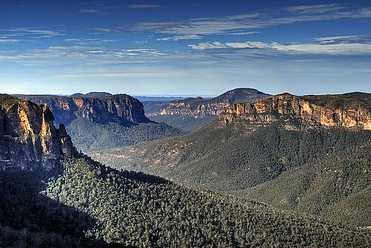 Govetts Leap Grose Valley Blue Mountains Australia  by David Iori