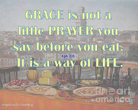 GRACE - Prayer Quote  by Italian Art