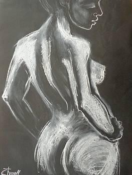 Graceful Back - Female Nude by Carmen Tyrrell