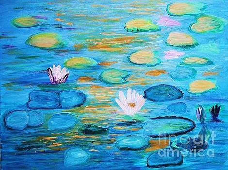 Graceful Pond From the Water Series by Donna Dixon