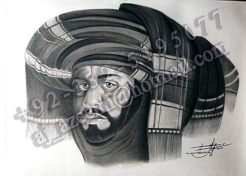 Gracefull Baloch Young man by Asif Javed Azeemi