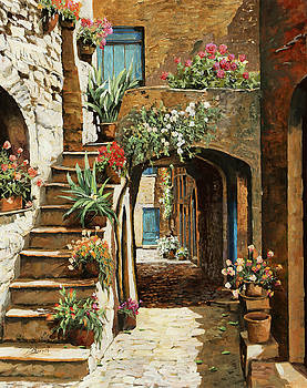 Gradini In Cortile by Guido Borelli