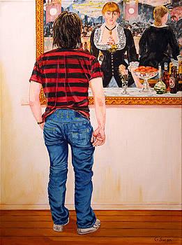 Graeme and Monet by Graham Swan