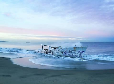 Art Block Collections - Graffiti Boat at Playa del Rey