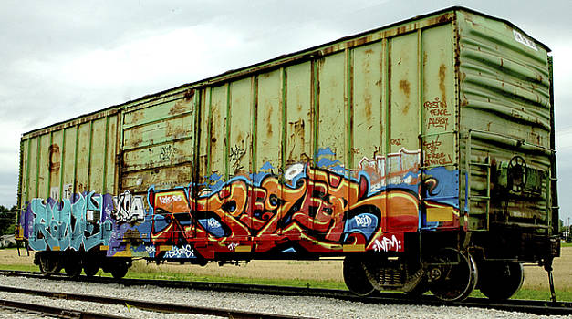 Graffiti Boxcar by Danielle Allard