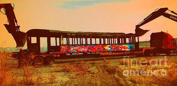 Graffiti Laden Rusted Out Saltair Train Car Scrapped February 18 2012 by Richard W Linford