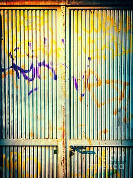 Silvia Ganora - Graffiti on iron door