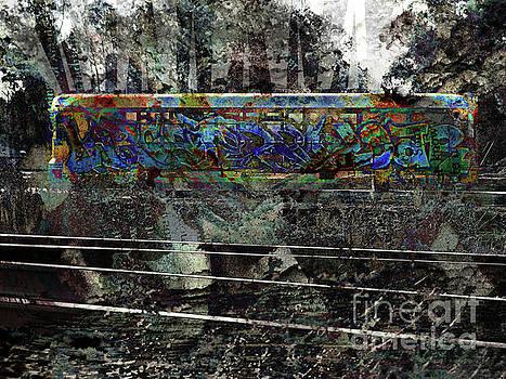 Graffiti on Rail Car by Robert Ball