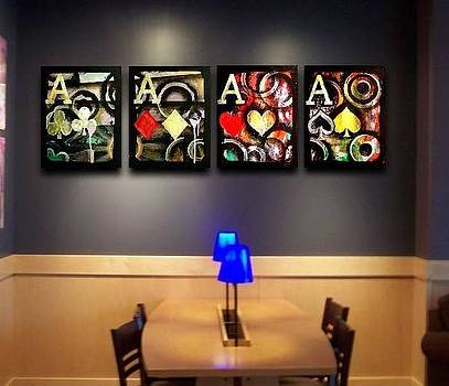 Graffiti Poker Aces by Teo Alfonso