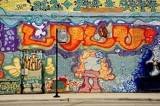 Graffiti Street Scene by Paul  Simpson