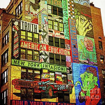 Graffitti on New York City Building by Nishanth Gopinathan