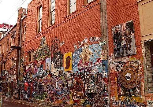 Grafitti Wall by Theresa Willingham