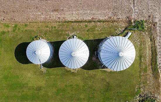 Grain Bins by Mark Dahmke