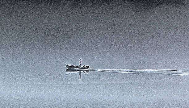 Grainy Boater by Kent Dunning