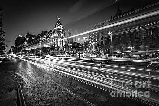 Gran Via Madrid Spain by Pablo Avanzini