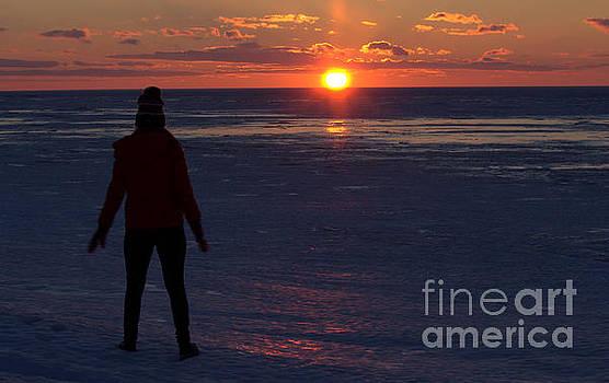 Grand Bend Ice View 2 by John Scatcherd