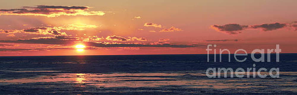Grand Bend Ice View Panoramic 10 by John Scatcherd