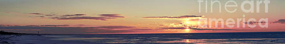 Grand Bend Ice View Panoramic by John Scatcherd