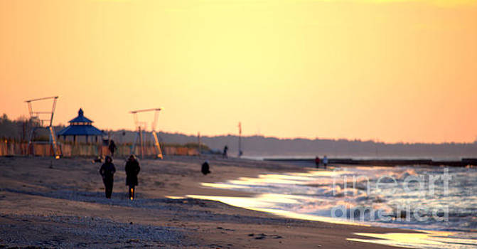Grand Bend In November by John Scatcherd