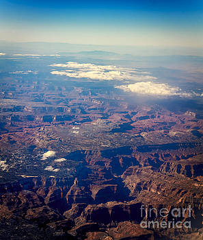 Grand Canyon from 38,000 Feet by John Lee