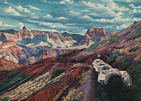 Grand Canyon Mule Skinners by Cheryl Fecht