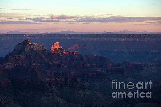 Grand Canyon North Rim at Sunset by Diane Diederich